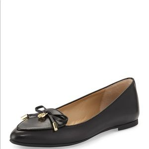 Micheal KORS Nancy Leather Bow Flat loafers, black